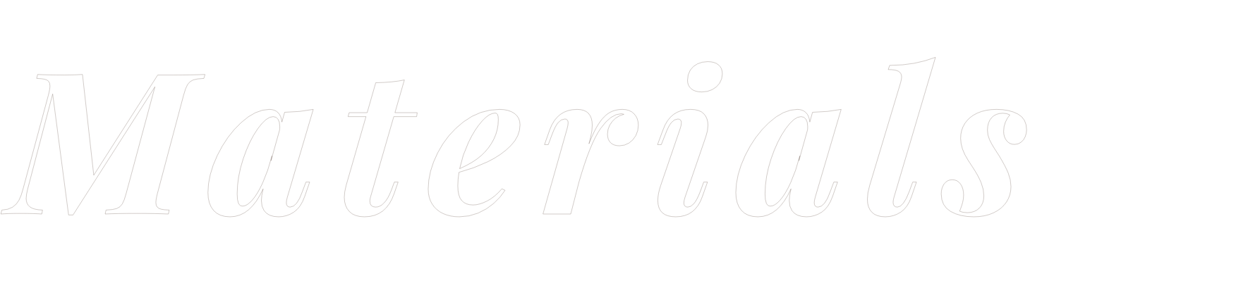 Materials text
