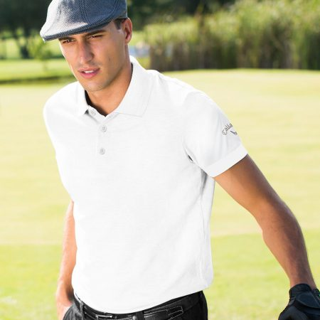 callaway emboridery polo shirt front white