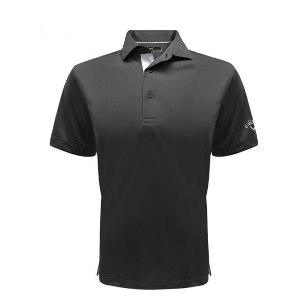 callaway embroidery polo black front