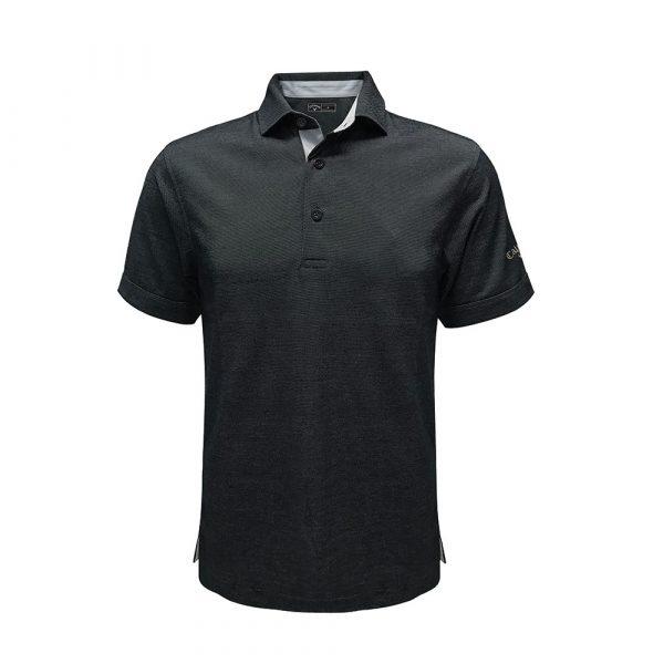 callaway polo with self fabric collar black