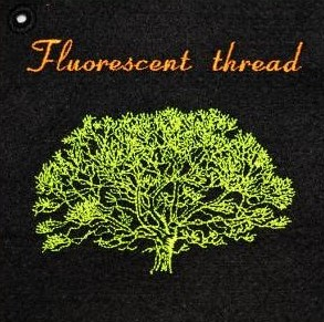 fluorescent embroidery method