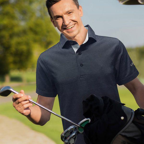 callaway polo shirt with self fabric collar