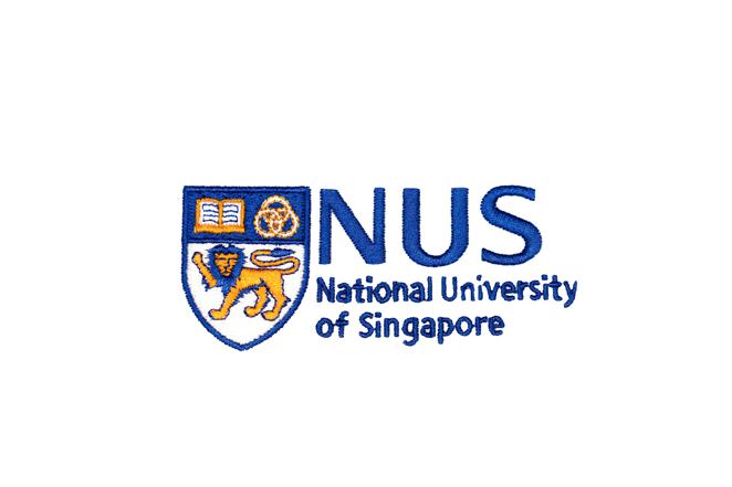 national university of singapore logo embroidery