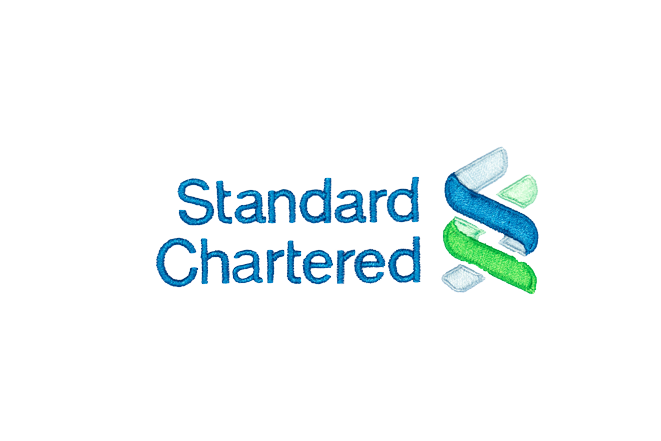 standard chartered logo embroidery