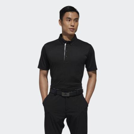 Model Wearing Men Polo Black BC2861