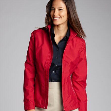 Model Wearing Ladies' CB WeatherTec Beacon Full Zip Jacket