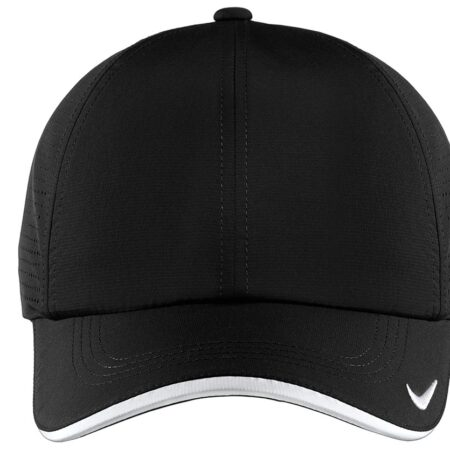 Dri fit Swoosh Perforated Cap Black Front