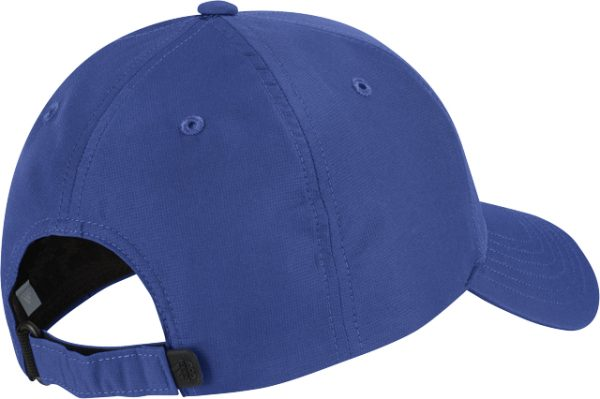 Back and Side Profile of Adidas Blue Crestable Performance Hat