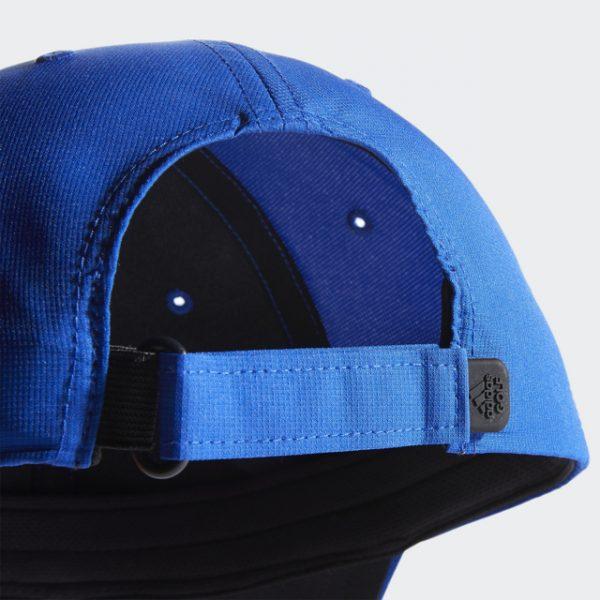Adidas Blue Crestable Performance Hat Stretchy Hook-and-Loop Adjustable Back Strap