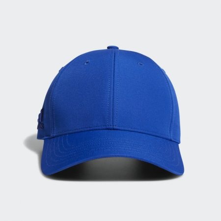 Front profile of Adidas Blue Crestable Performance Hat