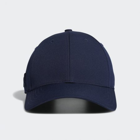 Front profile of Adidas Golf Navy Front-Hit Cap