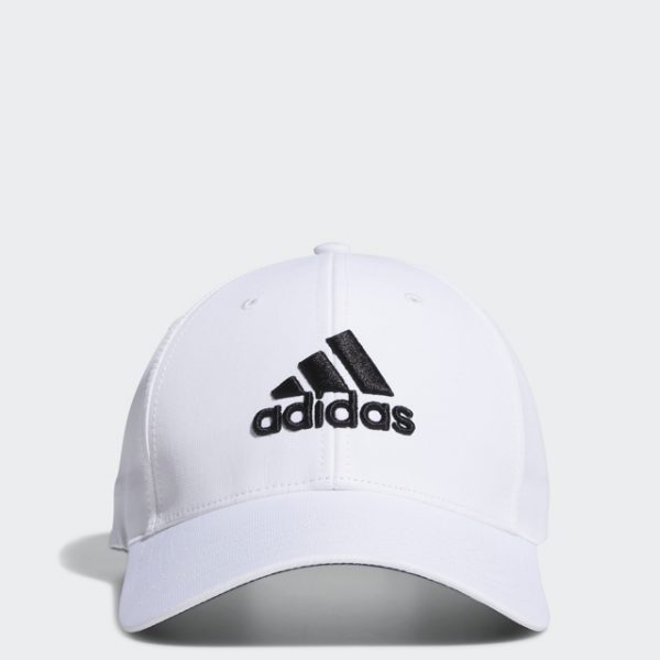 Adidas Golf White Side-Hit Cap with Adidas Embroidery