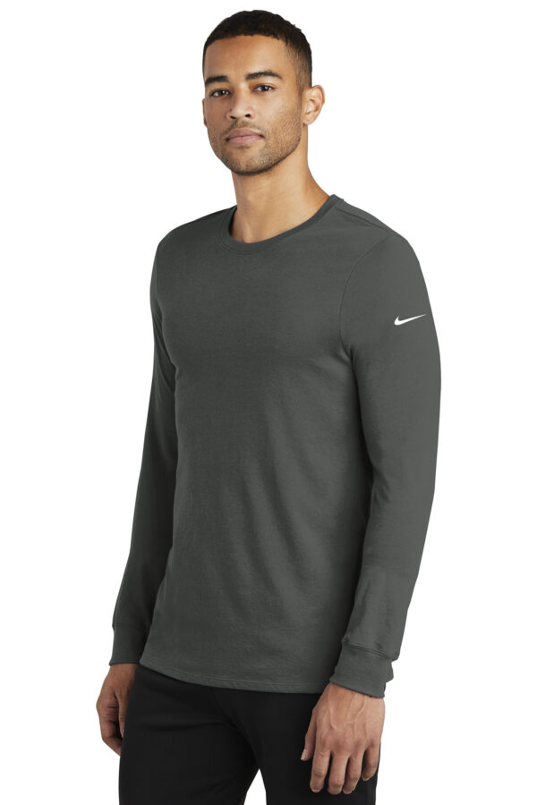 Nike Dri FIT Cotton Poly Long Sleeve Tee Side