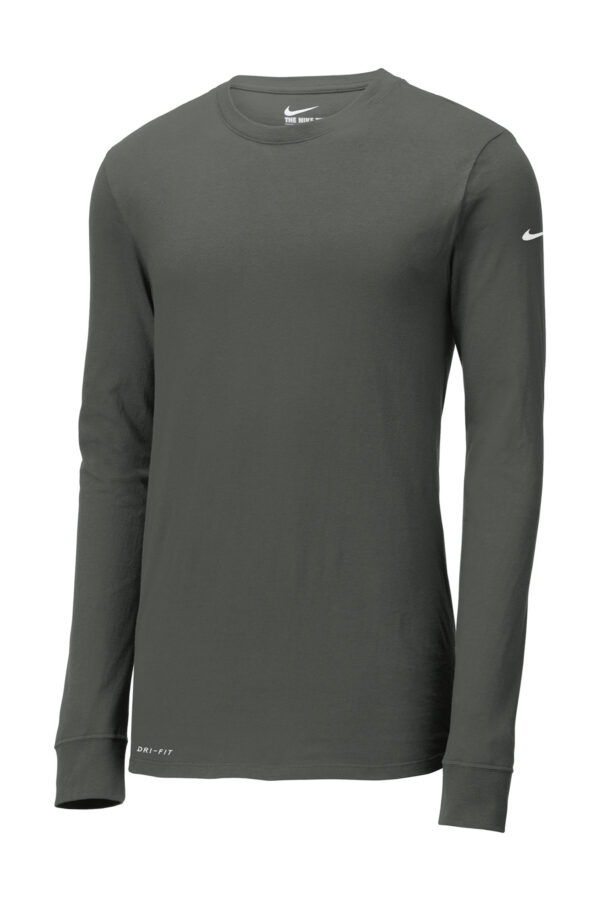 Nike Dri FIT Cotton Poly Long Sleeve Tee Front